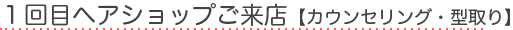 1回目ヘアショップご来店【カウンセリング・型取り】