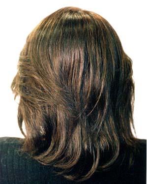 医療用ウィッグ髪型 後ろ写真