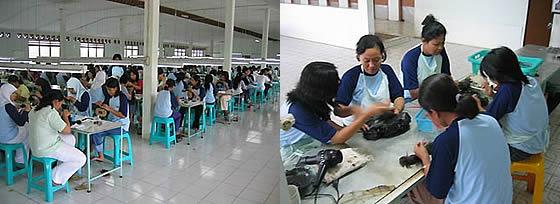 優れた海外工場で、優秀なスタッフが生み出す最高クオリティ