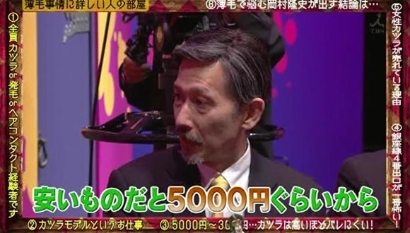 岡村隆史かつらモデル髪型画像