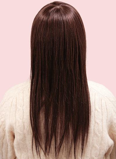 ウィッグ髪型モデル シルキーストレートスタイル 後ろから
