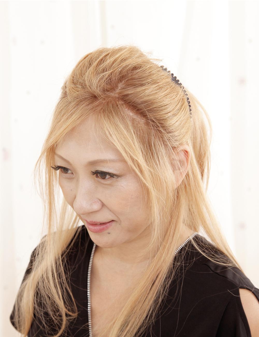 wigstyle02まとめ髪アクセサリー横